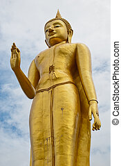 Temple at Hat Yai Thailand (Standing Buddha) - Temple at Hat...