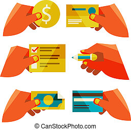 clients purchasing work. Flat design modern vector...