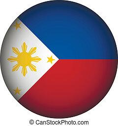 Philippines flag button. - Philippines flag button on a...