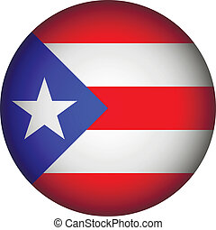 Puerto Rico flag button - Puerto Rico flag button on a white...