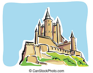Segovia Alcazar - Illustration of the Alcazar in Segovia