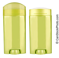 deodorant - Green container of deodorant isolated on white...