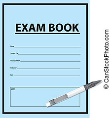 Exam Book and pen