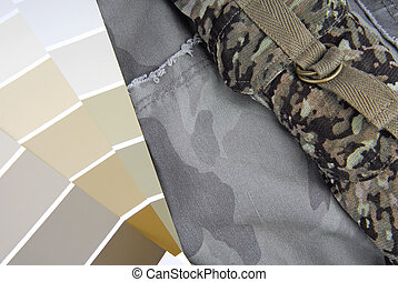 camouflage color chart for interior design