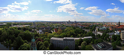 West Hannover - Aerial view of west Hannover in Germany