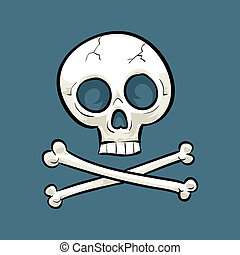 Skull and Crossbones - Cartoon skull and crossbones