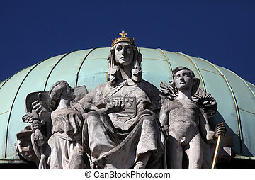 Ethnographic Museum in Zagreb - The sculpture over the...