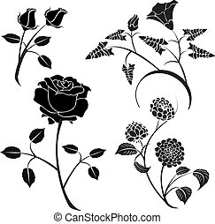vector flowers 18 - Is a EPS 10 Illustrator file without...