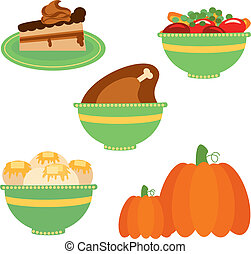 thanksgiving dinner - Is a EPS 10 Illustrator file without...