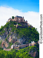 Hochosterwitz stronghold in Austria - Walls and towers on...