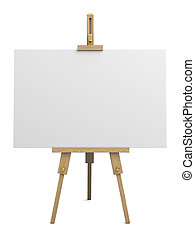Wooden easel - Very high resolution 3d rendering of a wooden...