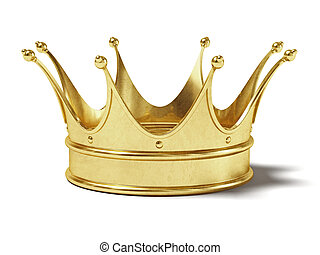 Gold crown - Very high resolution rendering of a gold crown