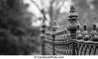 Graveyard Ironwork in plack and white
