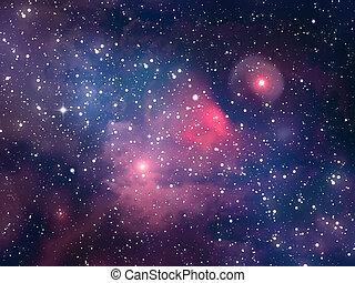 Space star nebula