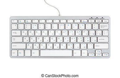Computer keyboard isolated on white.