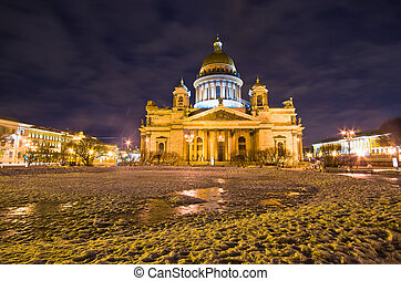 Saint Isaac's Cathedral in St Petersburg, Russia - Saint...
