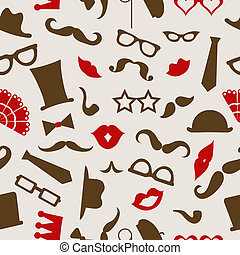 Hipster seamless pattern, vector