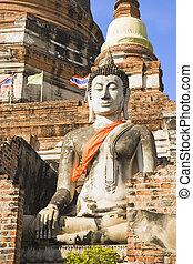 Wat Yai Chai Mongkol Buddha - Buddha statue at the temple of...