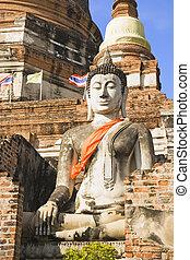 Wat Yai Chai Mongkol Buddha - Buddha statue at the temple of...