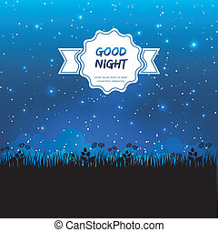 Good night design - Vector illustration of Good night design
