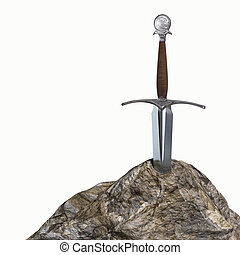The sword in the stone - Very high resolution 3d rendering...