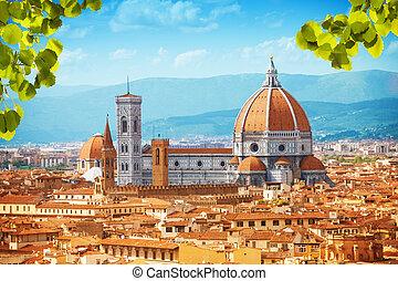 Basilica di Santa Maria del Fiore cathedral in Tuscany,...