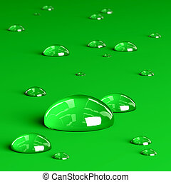 Droplets - Very high resolution 3d rendering of water...