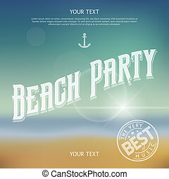 Beach Party - Summer Beach Party Flyer Template