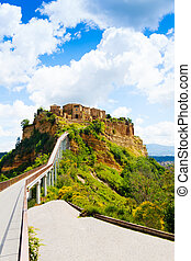 Bagnoregio - Bridge to town and castle of Bagnoregio, Lazio,...