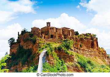 Bagnoregio town and fortification, Lazio, Italy, Europe