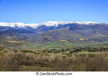 Catalan Pyrenees valley - The Pyrenees mountain in...