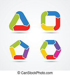 Modern vector circle arrows for info graphic - Layout for...