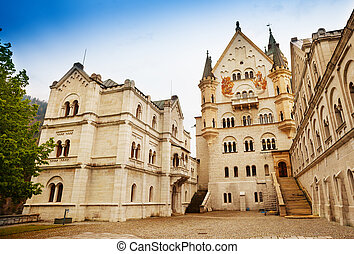 Neuschwanstein inner yard - Inner yard of the building of...