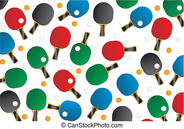 pingpong seamless pattern - suitable for decorations