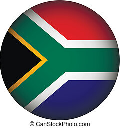 South Africa flag button The colors of original - South...