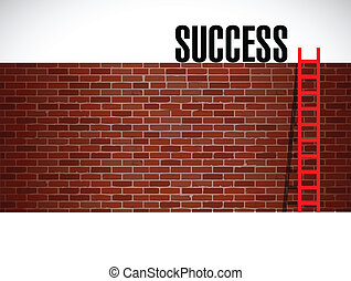 ladder to success illustration design graphic background