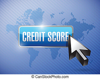 credit score button illustration design
