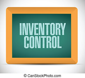 inventory control message on a chalkboard. illustration...