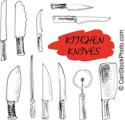 Kitchen knives.