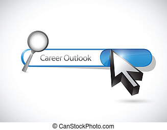 career outlook search bar illustration design over a white...