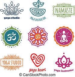 Yoga graphics - Set of yoga and meditation graphics and...