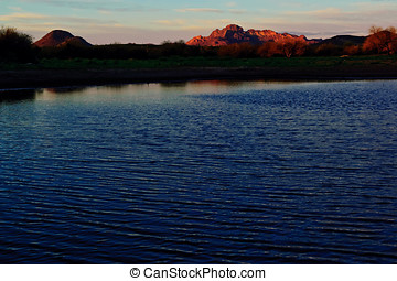 Webb Pond an Oasis in the desert - Webb Pond, also known as...
