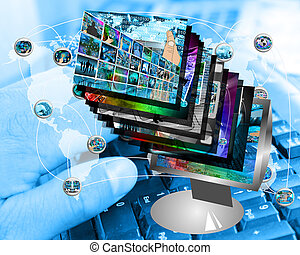 monitor - Abstract composition which shows a lot of...