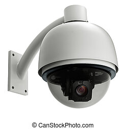 cctv - surveillance camera isolated on white background,...