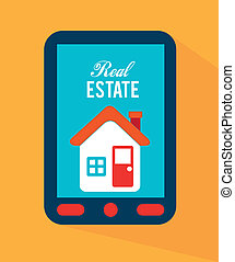 real estate design over yellow background vector...