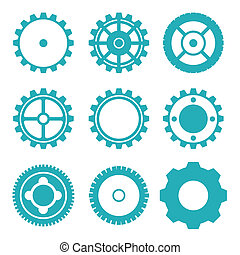 Imprimir - gears design over white background vector...