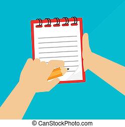 note book design over  background vector illustration
