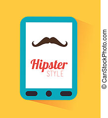 hipster design over yellow background vector  illustration