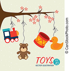 baby toys design over beige background vector illustration
