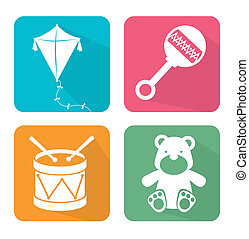 baby toys design over white background vector illustration